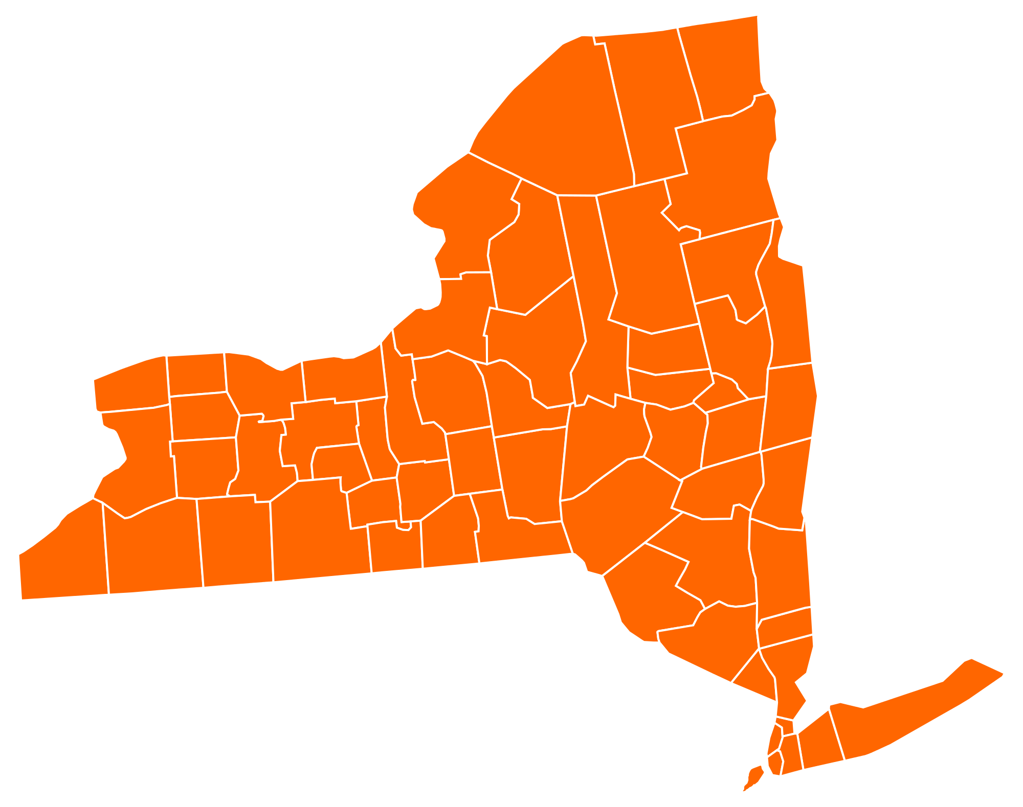 New York By County